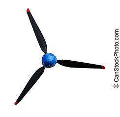Propeller 3 blades, isolated against background