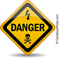 Danger warning sign - Vector danger warning sign