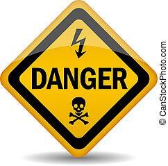 peligro, advertencia, señal