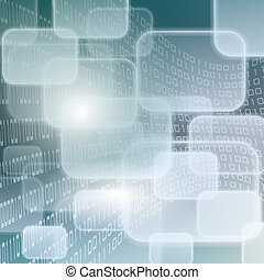 Technology background - Abstract illustration background as...