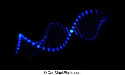 Rotating DNA spiral