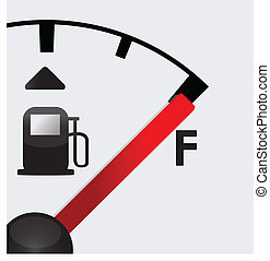 closeup Full gas tank detail illustration