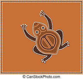 Dreamtime - dot painting - toad