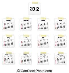 2012 calendar on reminders