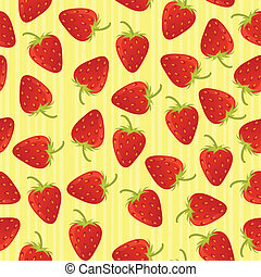 Strawberry seamless pattern with stripes EPS 8 CMYK with...