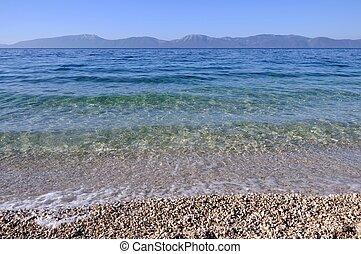 Adriatic Sea in Croatia in sunny day.