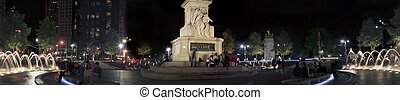Columbus Circle NYC pan