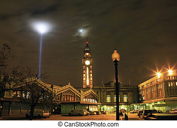 Hoboken's Lackawanna terminal - Hoboken Terminal on the...
