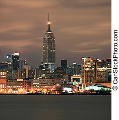 Empire State Building in NYC as viewed from Hoboken NJ.