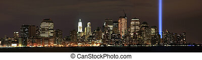Manhattan ground zero from NJ - View of Ground Zero from New...