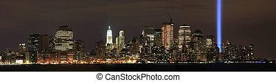 Manhattan ground zero from NJ - View of Ground Zero from New...