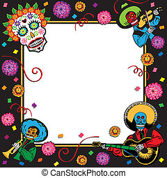 Day of the Dead Party Invitation - Festive Mexican themed...