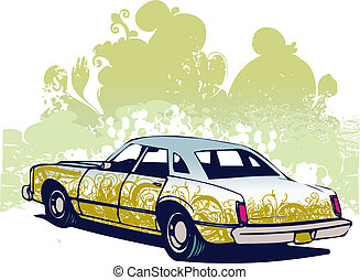 Classic car illustration