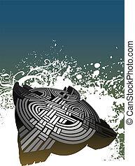 Celtic turtle illustration
