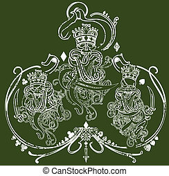 Kings trio illustration - Great for illustrations, apparel...