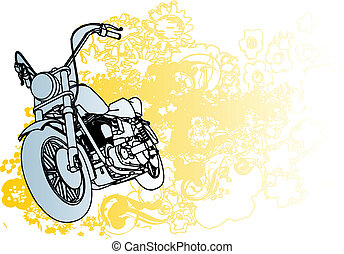 Motercycle illustration - Great for illustrations, apparel...