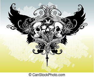 Warrior crest illustration - Great for illustrations,...