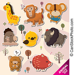 cartoon animal Stickers icons