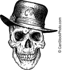 Pimpin skull illustration - Great for illustrations, apparel...
