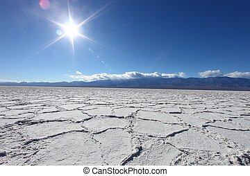 Beautiful Badwater Landscape in Death Valley California -...