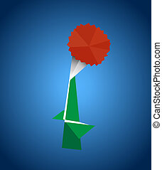 Origami - This image is a vector illustration and can be...