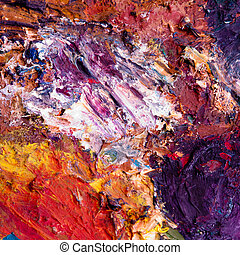 abstract oil painting - oil paint mixture background