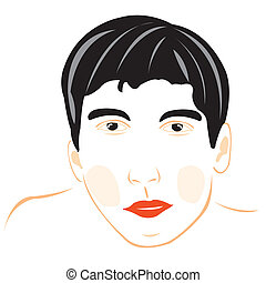 Drawing of the male person on white