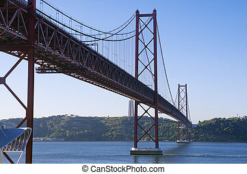 view of the bridge April 25 Lisbon