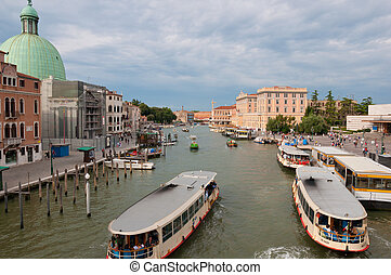 View to the Grand Canal in Venice, Italy