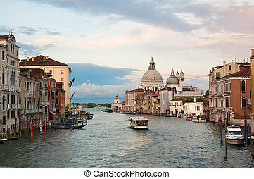Grand Canal view - Evening view at the Grand Canal in...
