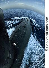 Submarine on surface - Spanish navys Siroco S-72 submarine...
