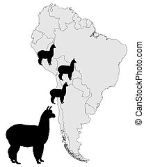 Alpaca range map