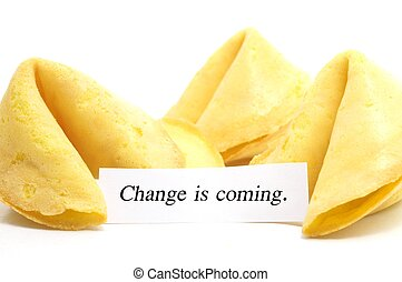 chinese fortune cookie whit label isolated on a white...