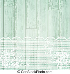 lace frame at light wooden background