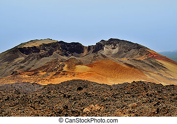 Pico Viejo, in Teide National Park, Tenerife, Spain - A view...
