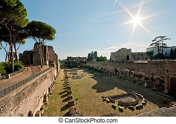 Palatine Hill - Ruins of Stadium Domitanusruins at the...