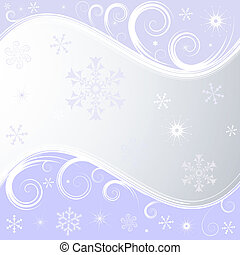 Silvery christmas frame - Silvery christmas background with...