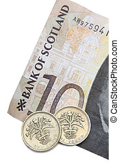 Scottish Currency - Scottish Ten Pound Note With A Two Pound...