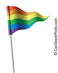 Rainbow flag - Vector illustration of a waving rainbow flag