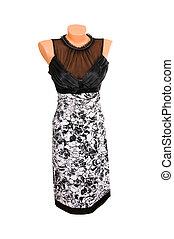 Classy stylish dress on a white.