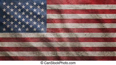 Grunge rugged USA flag - Weathered USA flag grunge rugged...