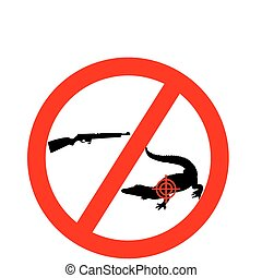 Dont shoot crocodile