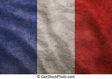 Grunge rugged France flag - Weathered France flag grunge...