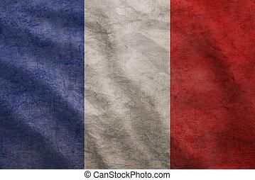 Grunge rugged France flag - Weathered France flag grunge...