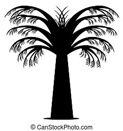 Abstract palm tree isolated on white background