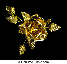 Yellow Metal Rose