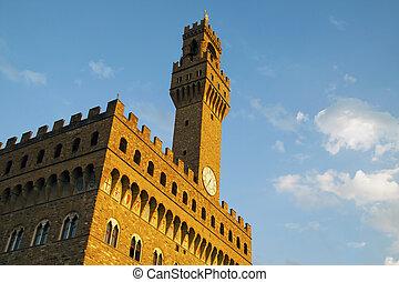 Palazzo Vecchio - View of Palazzo Vecchio, world famous...