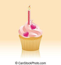 aniversário,  Cupcake