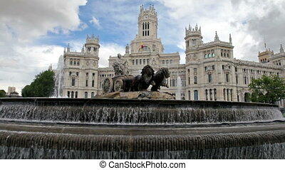 Madrid, Spain - Plaza de Cibeles, Madrid, Spain.
