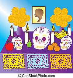 Day of the Dead in Mexico - is alustration of the Day of the...